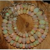 Opálový náhrdelník přírodní etiopský duhový opál ID015