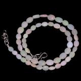 Opálový náhrdelník přírodní etiopský duhový opál ID036