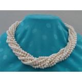 Perlový náhrdelník bílé jezerní perly 5mm NB168