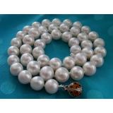 Perlový náhrdelník bílé jezerní perly 10mm NJ7396