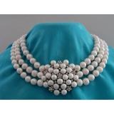 Perlový náhrdelník bílé jezerní perly 9mm NB157