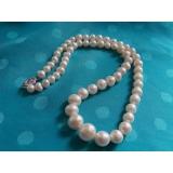 Perlový náhrdelník bílé jezerní perly 6-11mm NJ9201