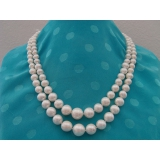 Perlový náhrdelník bílé jezerní perly 6-12mm NB166