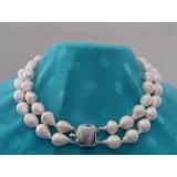 Perlový náhrdelník jezerní barokní drip perly 17mm NB086