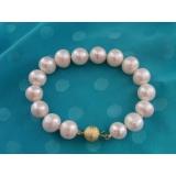 Perlový náramek jezerní bílé perly 12mm BB050