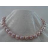 Perlový náhrdelník levandulové jezerní perly 12mm NJ8760