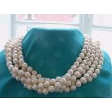 Perlový náhrdelník bílé jezerní perly 10mm, 250cm NB141