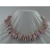 Perlový náhrdelník jezerní levandulové perly 20-25mm EC035