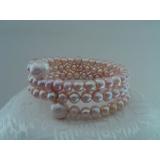 Perlový náramek pravé levandulové perly BB022