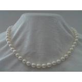 Náhrdelník z bílých mořských perel Akoya 7mm NJ5070