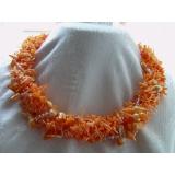 Náhrdelník oranžový korál 6 řad YY125