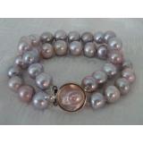 Perlový náramek jezerní levandulové perly BB04