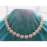 Perlový náhrdelník bílé jezerní perly 13mm NJ9051