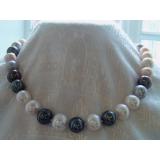 Perlový náhrdelník jezerní perly multikolor 14mm NJ8974