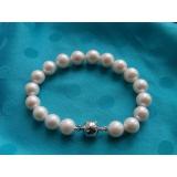 Perlový náramek jezerní bílé perly 11mm BB024