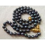 Perlová souprava náhrdelník a náramek jezerní černé perly YY050