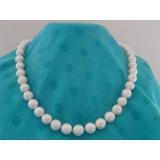 Perlový náhrdelník bílé jezerní perly 11mm NJ6937
