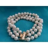 Perlový náramek jezerní bílé perly 9mm BB048