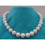 Perlový náhrdelník bílé jezerní perly 15mm NJ9604