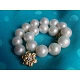 Perlový náramek jezerní bílé perly 12mm BJ6765