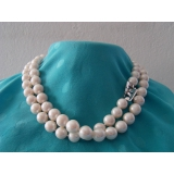 Perlový náhrdelník bílé jezerní perly 12mm NB193