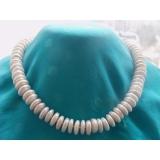 Perlový náhrdelník jezerní bílé coin perly 13mm YY055