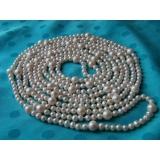 Perlový náhrdelník jezerní bílé perly 9mm EC012