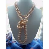 Perlový náhrdelník jezerní růžové perly 10mm NB061