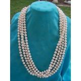 Perlový náhrdelník pravé bílé jezerní perly 10mm  NB112