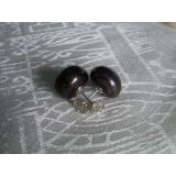 Náušnice černé jezerní perly 12mm EP004