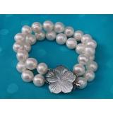 Perlový náramek jezerní bílé perly 12mm BB006