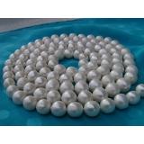 Perlový náhrdelník pravé jezerní bílé perly 12mm NB167