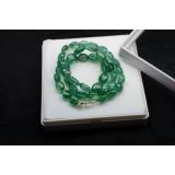 Náhrdelník přírodní smaragdy 12mm JB019