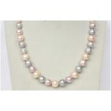Perlový náhrdelník barevné jezerní perly 12mm NJ9589