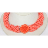 Náhrdelník růžový korál NJ9605