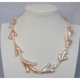 Perlový náhrdelník jezerní růžové perly 30mm YY145