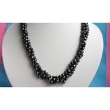 Perlový náhrdelník pravé černé jezerní perly 8mm  N1783