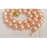 Perlový náhrdelník pravé jezerní perly 12mm NJ6792