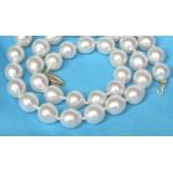 Perlový náhrdelník, pravé mořské perly South Sea barokní 10mm NJ6868