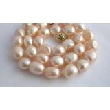 Perlový náhrdelník pravé jezerní barokní perly 12mm  NJ7286