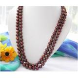 Perlový náhrdelník jezerní čokoládové perly 11mm NB231
