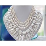 Perlový náhrdelník jezerní perly NB313