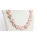 Perlový náhrdelník jezerní levandulové perly NJ10676