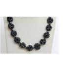 Perlový náhrdelník jezerní černé perly NJ10679
