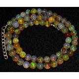 Náhrdelník přírodní etiopský opál ID044