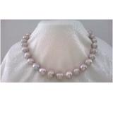 Perlový náhrdelník obláčkové jezerní levandulové perly 13mm OP003