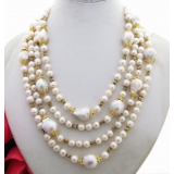 Perlový náhrdelník jezerní bílé perly YY231