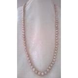 Perlový náhrdelník jezerní levandulové perly 9mm, YY161a