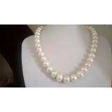 Perlový náhrdelník jezerní bílé perly 13mm WN009