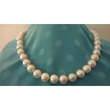 Perlový náhrdelník bílé jezerní perly 12mm NB324